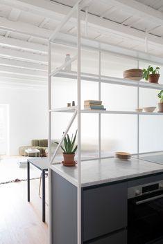 Gallery of Casa di Ringhiera / studio wok - 2 Milan Apartment, Apartment Interior, Wok, Hygge, Motif Hexagonal, Living Area, Living Spaces, Shower Box, Villa