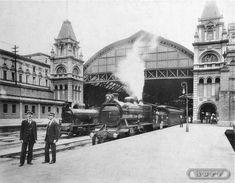 Estação da Luz, construída pela São Paulo Railway na cidade de São Paulo, foto de 1920