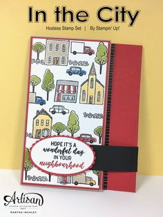 New Hostess Stamp Set: In the City, By Stampin' Up! Coming June 2017!!! #inchofcreativity #stampinup
