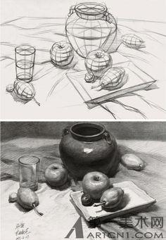 许衡2013素描静物作品欣赏(图)@你的笑魇依附她采集到手绘素材(40图)_花瓣人文艺术