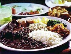 Feijoada, the robust meat and black bean stew that's considered the national dish of Brazil.