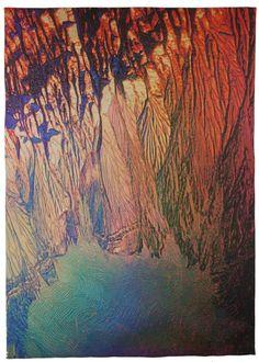 betty busby--fine art in fiber Fertile Crescent 51x36.5  Alluvial, Open Space Gallery Private collection