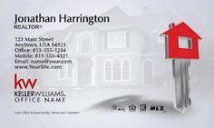 Keller WIlliams Real Estate Business Card Template Design.