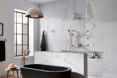 Technology + Bauhaus = The Ultimate Modern Bathroom -Litze is the newest bath collection from Brizo, it's more than just a luxurious way to take your daily shower. The Brizo design process is rooted in historical inspiration This year, the team went a little further afield (historically speaking): to the Bauhaus.