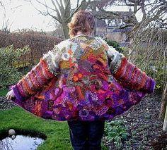 fantastic freeform crochet jacket by Pauline Fitzpatrick