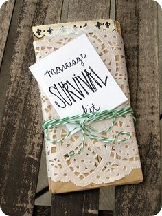 marriage survival kit.