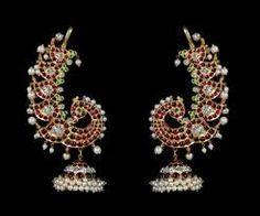 India Jewelry, Temple Jewellery, Gems Jewelry, Wedding Jewelry, Diamond Jewelry, Jewelery, Diamond Earrings, Antique Earrings, Antique Jewelry