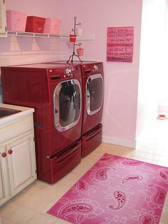 So, I think I could get away with a PINK laundry room since I am pretty much the only one who uses that room...