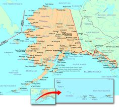 Map Of Alaska Reference Map Of Alaska AK JBs Travels - Show me a map of alaska