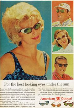 American Optical sunglasses, 1961