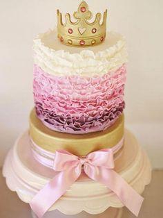 princess birthday cakes crown topper