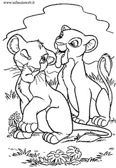 Simba And Nala coloring picture for kids printables Pinterest