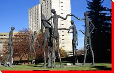 Who has not driven by these cool-looking statues in Calgary?