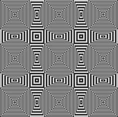 Flickering geometric optical illusion Art Print by Natalia Bykova
