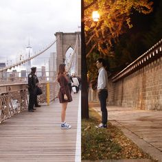 """""""Half & Half"""" – A Couple from NYC and Seoul Illustrates its long Distance Relationship in Pictures Of Their Cities Couple A Distance, Long Distance Love, Relationship Drawings, Relationship Pictures, Relationship Advice, Vivre A New York, Collage Kunst, Korean Couple, Photo Projects"""