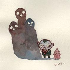 """""""Little Guy, Three Spirits"""" by Scott C.  (from Tender Times Exhibition this Friday at Cotton Candy Machine)"""