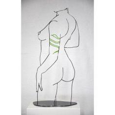Le sein - Yannick Bouillault - Sculpture métal Sculpture Metal, Wire Sculptures, Art Corde, Galerie D'art En Ligne, Rope Art, Art Original, Mosaic Ideas, Drawing Techniques, Oeuvre D'art