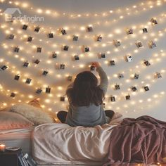 66 Ft Waterproof starry fairy copper string lights USB Powered for Bedroom Indoor Outdoor Warm White Ambiance Lighting for Patio Wedding Decor Power Adapter Included Trendy Bedroom, Cozy Bedroom, White Bedroom, Bedroom Storage, Dream Bedroom, Hemnes, Diy Room Decor, Bedroom Decor, Home Decor