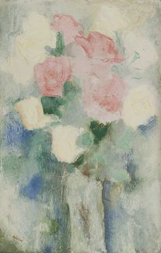 Antonius Bernardus 'Toon' Kelder (1894-1973) A still life with roses, oil on board 52.1 x 33.2 cm, signed lower left. Collection Simonis & Buunk, The Netherlands.