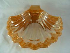 Vintage Fire King Lusterware Shell Dish. $10.00, via Etsy.