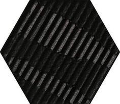 #Settecento #Matiere Hexa-style Carton Black 11x12,6 Mix 3 Stück cm 760017   #Feinsteinzeug #Betonoptik #11x12,5   im Angebot auf #bad39.de 99 Euro/qm   #Fliesen #Keramik #Boden #Badezimmer #Küche #Outdoor