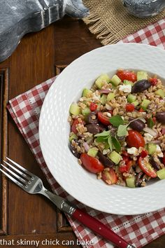 Greek Farro Salad #PicnicGame