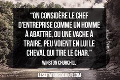 citation de Winston Churchill sur les entreprises et le boos