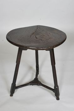 Antique 18th century Oak and elm Cricket Table