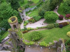 View from on top of Blarney Castle in Ireland