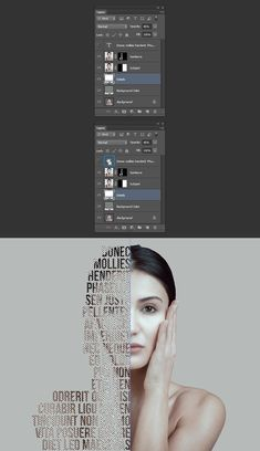 There are many different types of text portrait effects you can create with Photoshop. We've already shown you how to use displacement maps with very long text to make a calligram. Today, you'll learn how to make another type of text portrait effect Graphic Design Lessons, Graphic Design Tutorials, Graphic Design Posters, Graphic Design Illustration, Graphic Art, Illustration Art, Photoshop Design, Photoshop Tutorial, Formation Photoshop