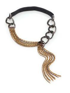 Lanvin - Chain & Rope Tassel Necklace - Saks.com
