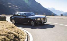 Download wallpapers Rolls-Royce Phantom, 2017, luxury car, sedan, British car, black Phantom