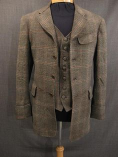19th century checkered mens three piece suit - Google Search