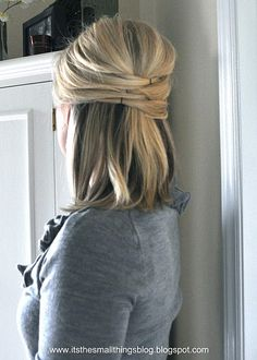 Easy cute hair - I'm terrible at doing my own hair, I'm going to have to give this a try!