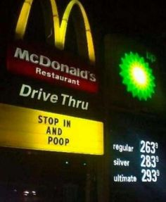 When it comes to fast food signs, we like ours misspelled, vandalized, and/or FULL of hilarious innuendo.