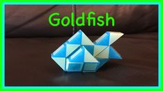 Smiggle Snake Puzzle or Rubik's Twist Tutorial: How to make a Goldfish Step by Step... this goldfish shape is so life like!!