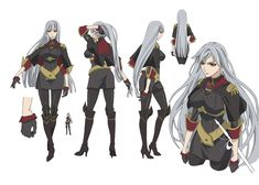 Selvaria Bles from Valkyria Chronicles Female Character Design, Character Design Inspiration, Character Concept, Character Art, Concept Art, Anime Warrior, Anime Demon, Beautiful Fantasy Art, Beautiful Anime Girl