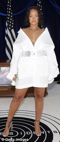 Rihanna - Shop stylish shirtdresses like Hailey Baldwin and Rihanna | Daily Mail Online