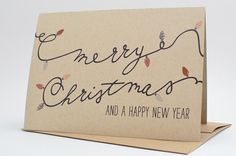Christmas Cards Christmas Card Set Merry by HenPenPaperCo