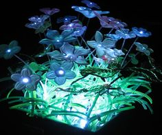 """(link) INSTRUCTABLES: Step by Step Guide ~ Fiber Optic and LED Minature Garden Light ~~~///~~~ NOTE: need to further investigate if this is (or could be made) """"weather-proof"""". My thought was this could be a fun, pretty way of drawing bugs in area for our toad friends to gobble up!  ~ for more great PINs w/good links visit me @djohnisee ~ have fun!"""
