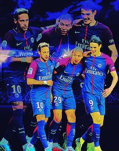 Neymar Kylian Mbappe Edinson Cavani Football Love Players Soccer Stars Paris Saint