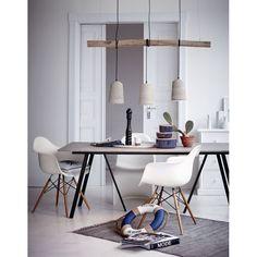 Deckenleuchte Lampe aus Beton, Hängelampe Industrial Look Esstischlampe mit Ast | eBay