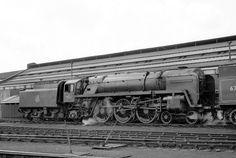 Britannia Pacific 70037 'Hereward the Wake' Stratford, 1956.