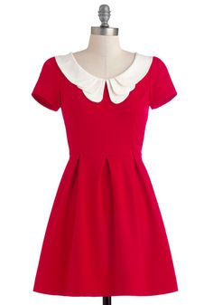 Looking to Tomorrow Dress in Rouge, #ModCloth