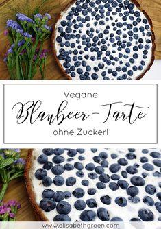 Vegan backen leicht gemacht. Entdecke jetzt dieses geniale Rezept für meine vegane und zuckerfreie Tarte mit #Blaubeeren. Lecker und gesund!