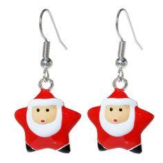 Tutorial - How to: Santa Star Earrings #Christmas #Jewelry | Beadaholique