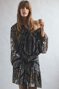 Seven Wonders Mini Dress | Free People Free Clothes, Clothes For Women, Fit And Flare Skirt, Mini Dress With Sleeves, Modern Fashion, Fashion Ideas, Boho Outfits, Free People Dress, Style Me