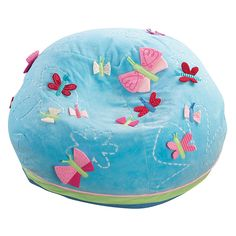 Very good quality and can be used for years and handed down from child to child. It is washable also! My daughter had it in her room and used to read her books on it. Girl Themes, Inventions, Playroom, Bean Bag Chair, Boy Or Girl, Butterflies, Kids Rugs, Pillows, Children