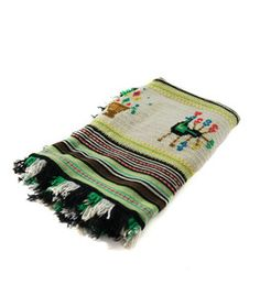 A taste of folk art meets bohemian bliss. This embroidered textile  couldnt be more welcoming with its wool texture and inviting colors. $80.00 www.magpiefields.com