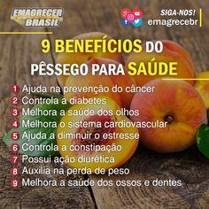 Quem ai gosta de Pêssego!? 😋  Um pêssego médio(90g) tem em média 58 calorias. 😄  Essa frutinha pouco calórica é um ótimo complemento para um lanche da tarde ou da manha, nutritivo e cheio de benefícios para saúde!! 😉